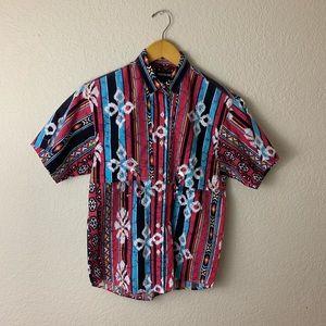 Vintage frontier series southwestern Aztec shirt